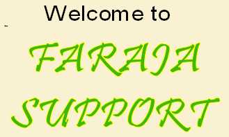 Welcome to FARAJA  SUPPORT